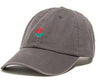 Wholesale Baseball Alumni - New rare fashion Red rose hats Hundreds Tha Alumni Strap Back Cap men women bone snapback Adjustable panel Casquette golf sport baseball Cap