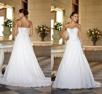tubo de boda sexy al por mayor-Best Selling Wedding Long Tail Vestido de novia Top de tubo Chiffon Spot Venta Faldas escalonadas Mopping Long Section Vestidos de novia