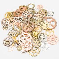 pulsera de engranaje al por mayor-100g Mix Alloy Steampunk Gears Accesorios de bricolaje de joyería Engranajes Cog Wheel Charms Colgante Pulsera Fit Accesorios Diy Jewelry Making DHL GRATIS