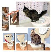 Wholesale pet cat toilet - Drop shipping Retail box 2017 Citi kitty Pet Toilet Trainer Puppy Cat Toilet Litter Trainer Cat Training kit