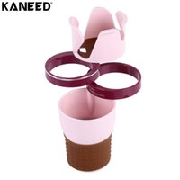 Discount dual car cup holder - KANEED Universal Car Drink Holder Auto Multi-functional Dual Cup Holder Smartphone Drink Sunglasses Card Coin Small Accessories