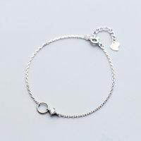 silber kreis link armband großhandel-MloveAcc Genuine 100% 925 Sterling Silber Fashion Round Circle Chain Link Armband Frauen Luxus Silber Schmuck