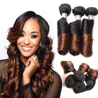 Wholesale ombre funmi hair - 300g Brazilian Ombre Spring Curl Weave Human Hair 3 Bundles Virgin Romance Bouncy Curls Human Hair Weave Unprocessed Funmi Hair Extensions