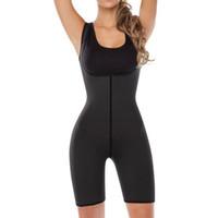 os corpos das mulheres se encaixam na roupa venda por atacado-Dissipação rápida Sweat Body Shaper Mulheres Esporte Terno Conjunto de Yoga Sem Mangas de Fitness Sportswear Ginásio Workout Roupas