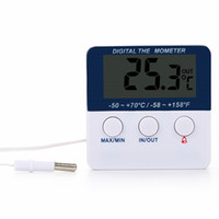 Wholesale indoor electronic display for sale - Group buy Low Power Thermometer Mini LED Electronic Display Indoor Outdoor Temperature Alarm Meter Refrigerator Factory Fish Tank House