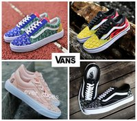 Wholesale custom rubbers - new Vans Custom Goyards Colourful Flame Old Skool Shoes zapatillas de deporte Designer Casual GUAP BCW Canvas trainers Sneakers 35-44