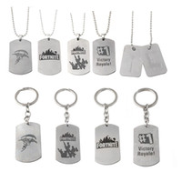 Wholesale keychain necklaces - Game Fortnite Necklace 2018 new Fortnite keychain cartoon alloy Pendant for Children gifts C4507