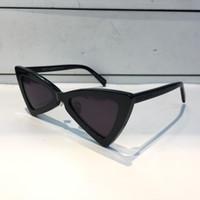 lentes rojos gafas de sol mujeres al por mayor-Lujo 207 Gafas de sol Moda Mujeres Triángulo Marco completo SL 207 Modelo UV400 Lente Estilo de verano Negro Blanco Color rojo Ven con el paquete