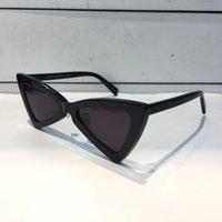 óculos de sol de moda branca venda por atacado-Luxo 207 Sunglasses Moda Feminina Triangle Full Frame SL 207 Modelo UV400 Lens Estilo Verão preto Branco Vermelho Cor Vem Com Pacote