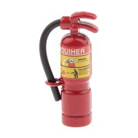 Wholesale Fire Safety - Wholesale-Dollhouse Miniature 1:12 Scale Dolls House Miniature Red Fire Extinguisher Safety Metal Doll Houses Accessories Gift for Dolls