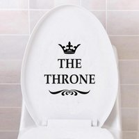 Wholesale funny bathroom decorations - THE THRONE Funny Interesting Toilet Wall Stickers Bathroom Decoration Accessories Home Decor Free Shipping