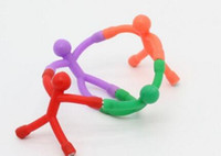 Wholesale Novelty Paper Clips - Bendable Magnet Men Q-Man Kids Novelty Science Funny Toy Magnetic Stick Office Fridge Whiteboard Picture Paper Photo Clip