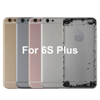 Wholesale 6s frame housing for sale - 100 AAA High Quality For iPhone s plus Rear cover Full Housing Back Door Frame Battery Cover With Side Buttons Complete Assembly free DHL
