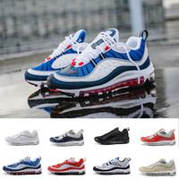 new products cffdf 4f918 Nuovo arrivo 98 Gundam Sport scarpe da corsa per uomo 98s di alta qualità  Bianco blu rosso nero Outdoor scarpe da ginnastica formato eur 40-46