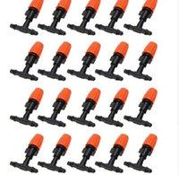 pulverizadores de manguera al por mayor-20 unids micro sistema de riego por goteo boquilla pulverizador de control de agua auto jardín jardín niebla rociador con manguera conector