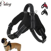 Wholesale Dog Pull Harness - K9 No Pull Dog Harness Quick Control Dogs Harness Nylon Reflective Vest For Small Medium Large Big Dogs Ourdoor Walking Training