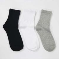 beyaz çorap bayan toptan satış-10 Pairs erkek Çorapları Kısa Kadın Düşük Kesim Ayak Bileği Çorap Kadınlar Bayanlar Için Gri Beyaz Siyah Çorap Kısa Chaussette Femme