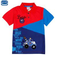 3t bilder großhandel-Novatx C6265 2017 Mode-Design Sommer Baby Jungen Kurzarm T-Shirt Patchwork Mit Auto Bild T-Shirt Für Kinder Heißer Verkauf