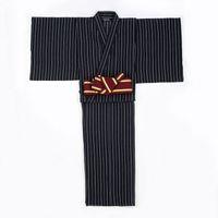 Wholesale Male Kimono Cosplay - Men Spring Japan Traditional Kimono with Belt Male Night Dressing Gown Classic Lounge Sleepwear Male cosplay Bathrobes 012603