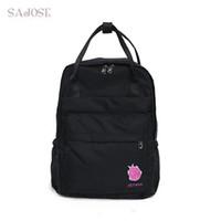 Wholesale cute college bag style for sale - Group buy Cute Girls Nylon School Backpack Large Capacity Casual Knapsack For Teenage Girl Women School College Pattern Bag