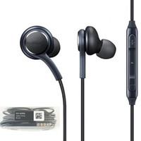 auricular de control de volumen al por mayor-Para auriculares estéreo S8 en la oreja con control de volumen del micrófono Control de volumen de bajos bajos Auriculares para auriculares con auriculares para Samsung galaxy S8 S9