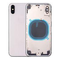 batterie de cadre iphone achat en gros de-Boîtier arrière pour coque en métal de couvercle de batterie pour iPhone X pour iPhone X milieu