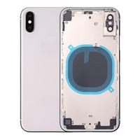 iphone hinteres gehäuse großhandel-Hinteres Gehäuse für das iPhone X Akkufachdeckel Metallgehäuse für das iPhone X Mittlerer Chassisrahmen Hintere Abdeckung des Türrahmens Frame Assembly