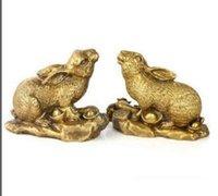zodiac feng shui venda por atacado-Os ornamentos de cobre Ovelhas do zodíaco sorte Feng Shui sorte mascote