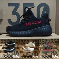 Wholesale Running Kid - Baby Kids Run Shoes Kanye West SPLY 350 Running Shoes Boost V2 Children Athletic Shoes Boys Girls Beluga 2.0 Sneakers Black Red