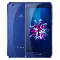 huawei android 4gb оптовых-Восстановленный оригинал Huawei Honor 8 Lite 5.2-дюймовый Octa Core 3 / 4GB RAM 32GB ROM 12MP камера с двумя SIM-картами Android сотовый телефон DHL 10 шт.