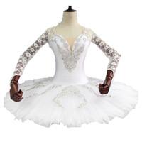 reina cisne al por mayor-Adultos Blanca Nieves Rendimiento Swan Lake Profesional Ballet Tutu Panqueque Niñas Plato Traje Etapa BT9108