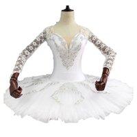 erwachsene schwan kostüm großhandel-Erwachsene Schneewittchen Königin Leistung Schwanensee Professionelle Ballett Tutu Pfannkuchen Mädchen Servierplatte Bühnenkostüm BT9108