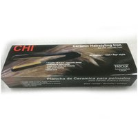 "Wholesale ionic straightener - In Stock CHI Pro 1"" Ceramic Ionic Tourmaline Flat Iron Hair Straightener with Retail Box"