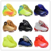 Wholesale green volts - Mens Football Boots Magista obra II FG-Volt Black Total Orange Soccer Cleats High Ankle Soccer Shoes Control Soccer Boots With Box