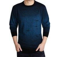 ingrosso pullover da uomo-Maglione di cachemire Uomo Abbigliamento Uomo maglioni di stampa Hang Pye casuale camicia di lana Pullover Pull O-Collo Dress Hot Sale