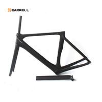 hafif çerçeve bisikletleri toptan satış-Karbon Yol Bisikleti Çerçeve brompton Di2 ve Mekanik 50/53 / 56mm Süper Hafif yağ bisiklet Çerçeve bisiklet / bisiklet çerçeve