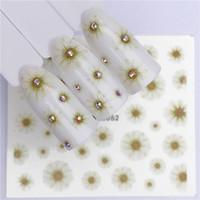 ingrosso luce del modello acqua-WUF Summer Series Nail Water Decalcomanie Fiore Fragola Frutta Pattern Tranfer Sticker Luce verde Sun Flower Styles