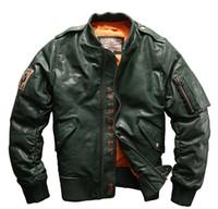 663bb68a4 2017 new AVIREX leather down bomber jackets Flocking sheepskin baseball  jackets ABLACK 41 ACES A1702