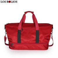 Travel Bag for Women Travel Tote Bags w Shoes Pocket Carry on Luggage  Handbag Nylon Duffel Bags Weekend Bag Bolso para Deporte 91e6ac9cbc
