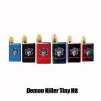 Wholesale black rda atomizer for sale - Group buy 100 Original Demon Killer Tiny Kit Built in mAh Battery Box Mod Tiny RDA Atomizer Resin Vape Kit Genuine