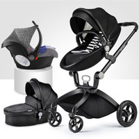 carrinho de passeio inflável venda por atacado-Frete grátis New arrival couro carrinho de bebê carrinho de bebê carrinho de criança inflável carrinho de criança carrinho de bebê k arabasi