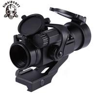 kırmızı lazer görüş alanı toptan satış-SINAIRSOFT Kırmızı Yeşil Nokta Sights Avcılık Çekim Oyunu Tüfek 32mm M2 Nişan Teleskop Lazer Sight Refleks Kapsam Picatinny Ray ...