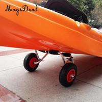 acc caoutchouc achat en gros de-MagiDeal Nouveaux pneus en caoutchouc anti-crevaison 1Pc sur chariot à roue rouge / roue de remorquage M / S pour kayak