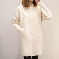 neue design pullover damen großhandel-2018 neue Mode Herbst Frühling Frauen Pullover Dame Cardigans Casual warme lange Design weibliche Strickmantel Strickjacke Jacke