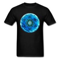 roupa da bola de cristal venda por atacado-Mistério Estrela geométrica 2018 Homens Preto Azul Camiseta Bola de Cristal Impresso Roupas de Verão Moda Algodão 3d Top T Shirt