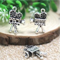 Wholesale antique cameras for sale - 7pcs Movie Camera Charms Antique Tibetan Silver D Fabulous Movie Camera Charm pendants x x mm