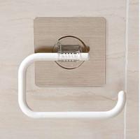 ingrosso adesivi da bagno-Adesivo magico Fissato al muro Portarotolo Cucina Accessori bagno Portasalviette Porta rotolo in carta SQ-5037