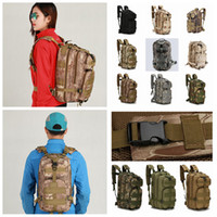 Wholesale 12styles P Hiking Camping Military Pack Tactical Travel Bag Rucksacks Camouflage backpack Outdoor cycling Trekking Bags FFA804