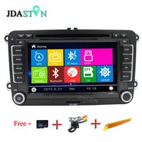 Wholesale dvd jetta - JDASTON Wince Car DVD Player For VW Jetta Sagitar Caddy Touran madotan Bluetooth Radio RDS GPS Navigation Phonebook