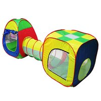 Wholesale Pop Up House - Cubby-Tube-Teepee 3pc Pop-up Play Tent Children Tunnel Kids Adventure House